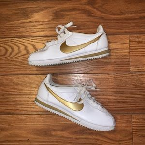 Nike Classic Cortez Leather White/Gold